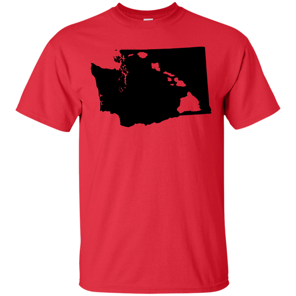 Living In Washington With Hawaii Roots Custom Ultra Cotton T-Shirt, Short Sleeve, Hawaii Nei All Day