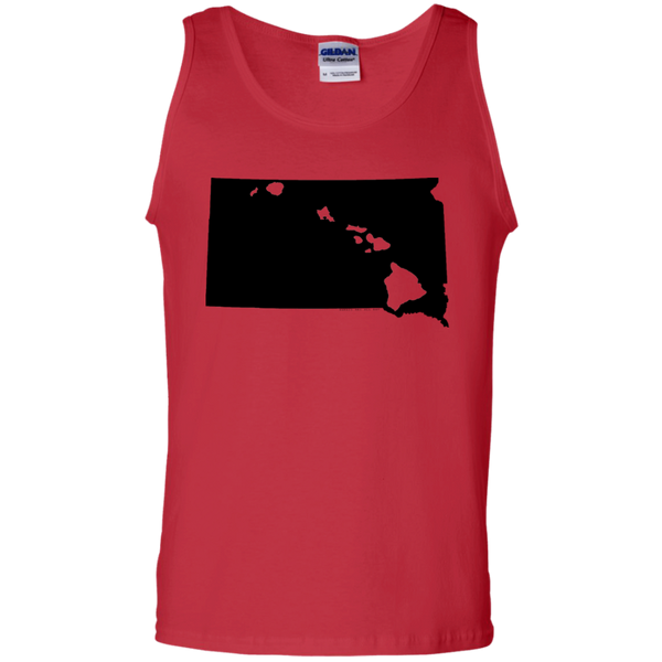 Living in South Dakota with Hawaii Roots 100% Cotton Tank Top, T-Shirts, Hawaii Nei All Day