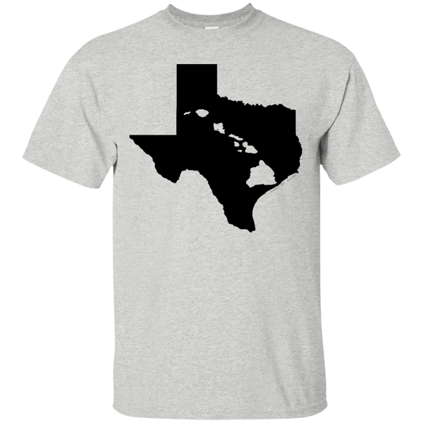 Living In Texas With Hawaii Roots Custom Ultra Cotton T-Shirt, Short Sleeve, Hawaii Nei All Day