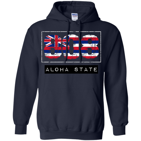 808 Aloha State Pullover Hoodie, Hoodies, Hawaii Nei All Day