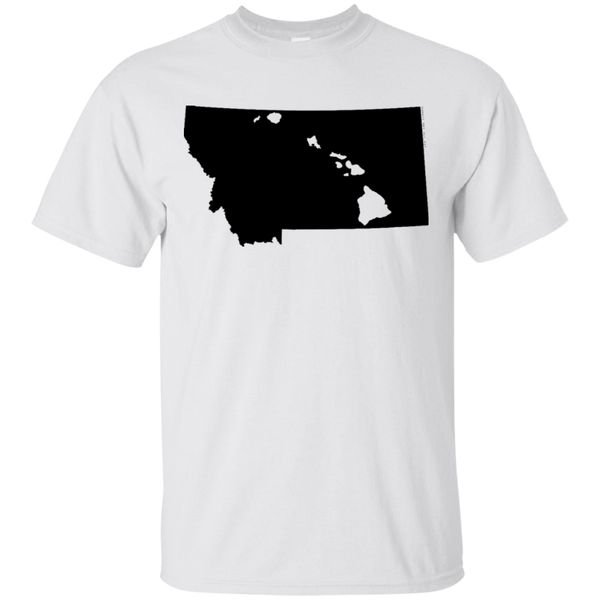 Living in Montana with Hawaii Roots Ultra Cotton T-Shirt, T-Shirts, Hawaii Nei All Day