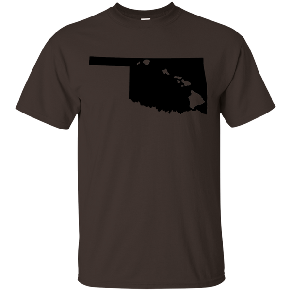 Living in Oklahoma with Hawaii Roots Ultra Cotton T-Shirt, T-Shirts, Hawaii Nei All Day