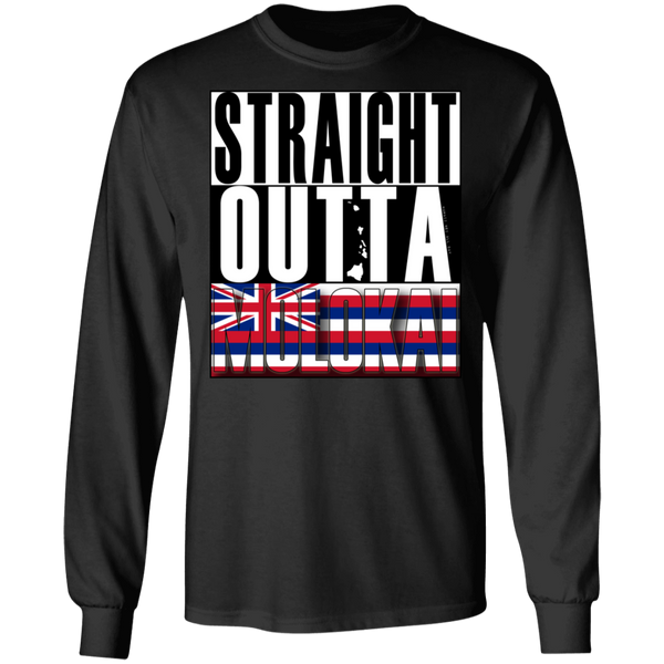 Straight Outta Molokai Hawaii LS Ultra Cotton T-Shirt