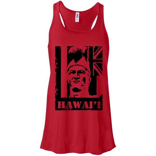 Hawai'i King Kamehameha Bella + Canvas Flowy Racerback Tank, T-Shirts, Hawaii Nei All Day, Hawaii Clothing Brands