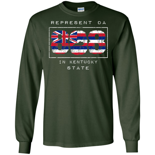 Rep Da 808 In Kentucky State LS Ultra Cotton T-Shirt, T-Shirts, Hawaii Nei All Day