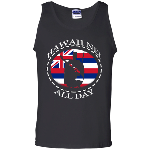 The Rising Sun  100% Cotton Tank Top, T-Shirts, Hawaii Nei All Day