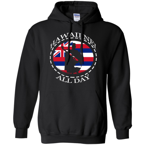 The Rising Sun Hawaii Flag Pullover Hoodie, Sweatshirts, Hawaii Nei All Day