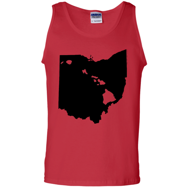 Living in Ohio with Hawaii Roots 100% Cotton Tank Top, T-Shirts, Hawaii Nei All Day