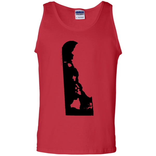 Living in Delaware with Hawaii Roots 100% Cotton Tank Top, T-Shirts, Hawaii Nei All Day