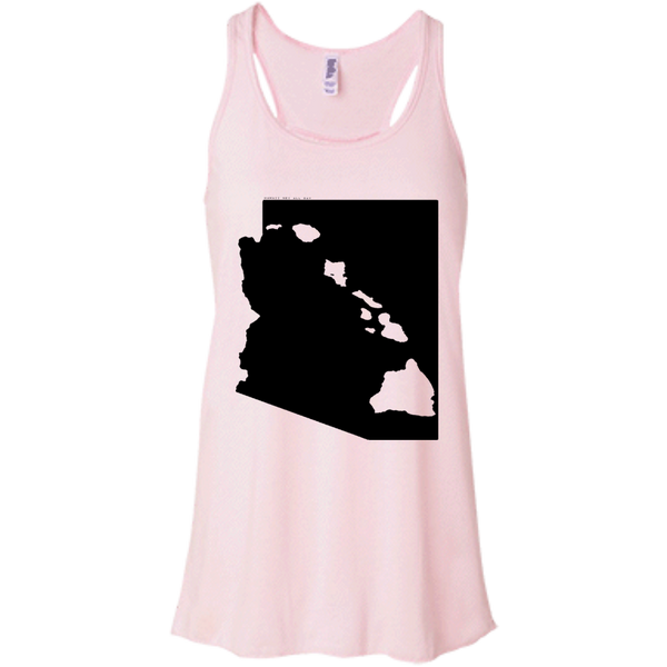 Living in Arizona with Hawaii Roots Bella + Canvas Flowy Racerback Tank, T-Shirts, Hawaii Nei All Day