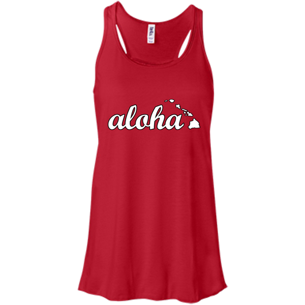 Aloha Bella+Canvas Flowy Racerback Tank, , Hawaii Nei All Day