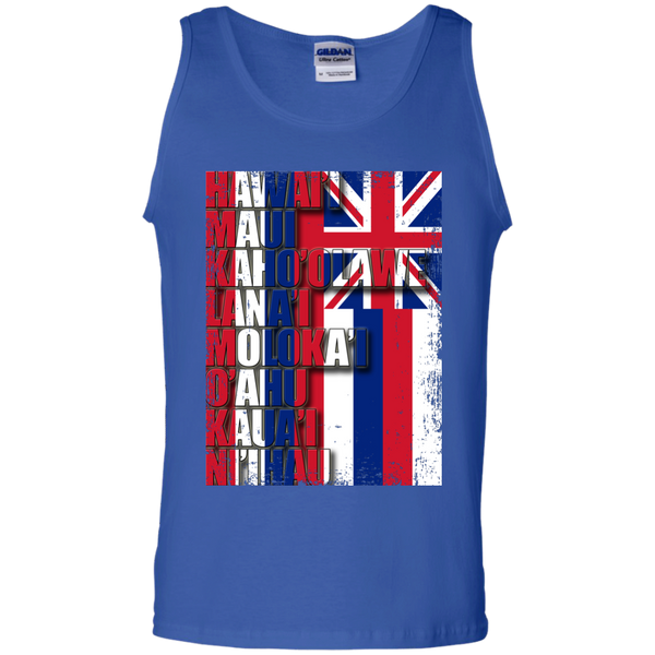 Hawaiian Island Pride 100% Cotton Tank Top, T-Shirts, Hawaii Nei All Day, Hawaii Clothing Brands