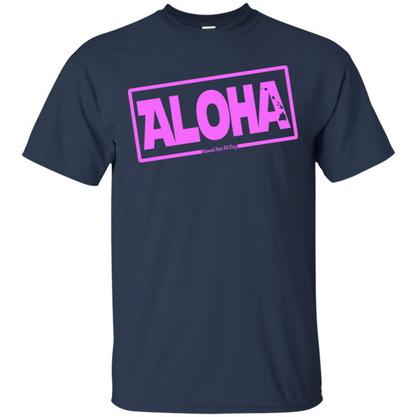 Aloha Hawai'i Nei (Islands pink ink) Ultra Cotton T-Shirt, T-Shirts, Hawaii Nei All Day