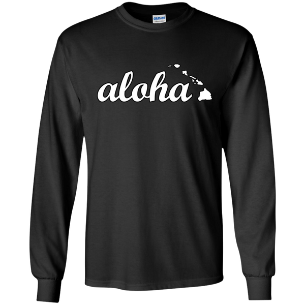 Aloha LS Ultra Cotton Tshirt, Long Sleeve, Hawaii Nei All Day, Hawaii Clothing Brands