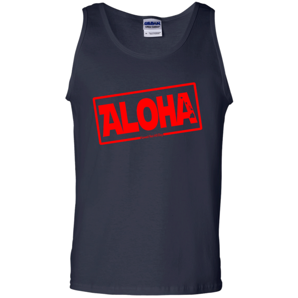 Aloha Hawai'i Nei (Islands red ink) 100% Cotton Tank Top, T-Shirts, Hawaii Nei All Day