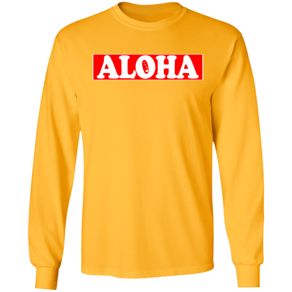 ALOHA Hawai'i (red) LS Ultra Cotton T-Shirt