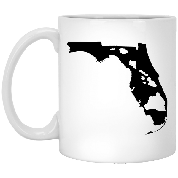 Florida and Hawaii Roots White Mug