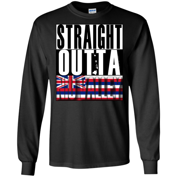Straight Outta Niu Valley Hawai'i LS Ultra Cotton T-Shirt, T-Shirts, Hawaii Nei All Day