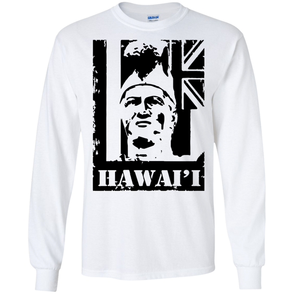 Hawai'i King Kamehameha LS Ultra Cotton T-Shirt, T-Shirts, Hawaii Nei All Day