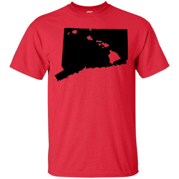 Living in Connecticut with Hawaii Roots Ultra Cotton T-Shirt, T-Shirts, Hawaii Nei All Day, Hawaii Clothing Brands