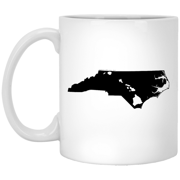 North Carolina and Hawaii Roots White Mug, Apparel, Hawaii Nei All Day