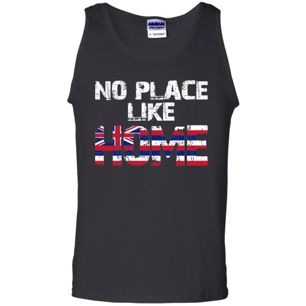 No Place Like HOME Hawai'i 100% Cotton Tank Top, T-Shirts, Hawaii Nei All Day