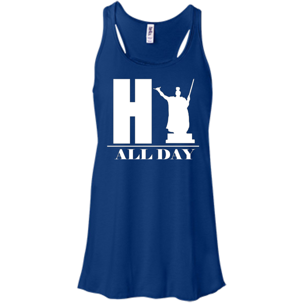 HI ALL DAY Bella+Canvas Flowy Racerback Tank, , Hawaii Nei All Day, Hawaii Clothing Brands