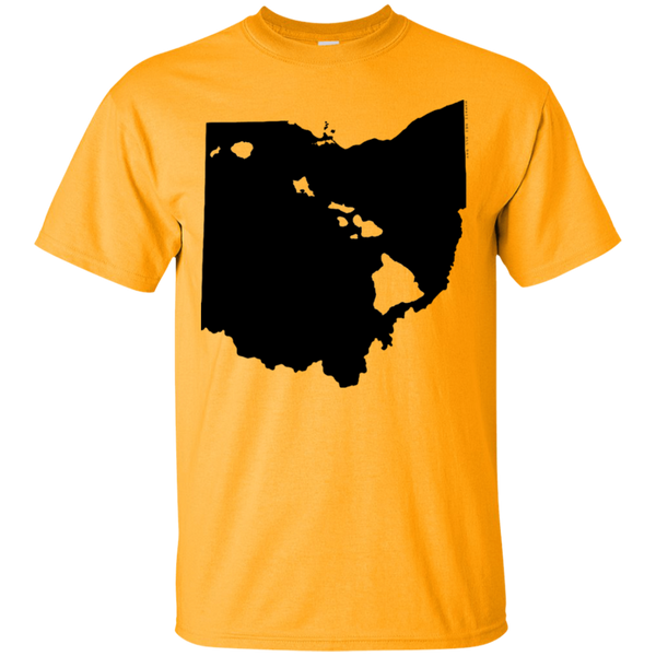 Living in Ohio with Hawaii Roots Ultra Cotton T-Shirt, T-Shirts, Hawaii Nei All Day