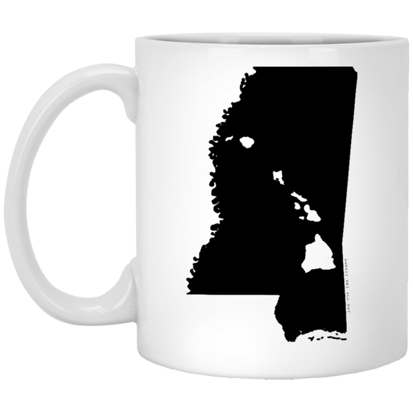 Mississippi and Hawaii Roots White Mug, Apparel, Hawaii Nei All Day