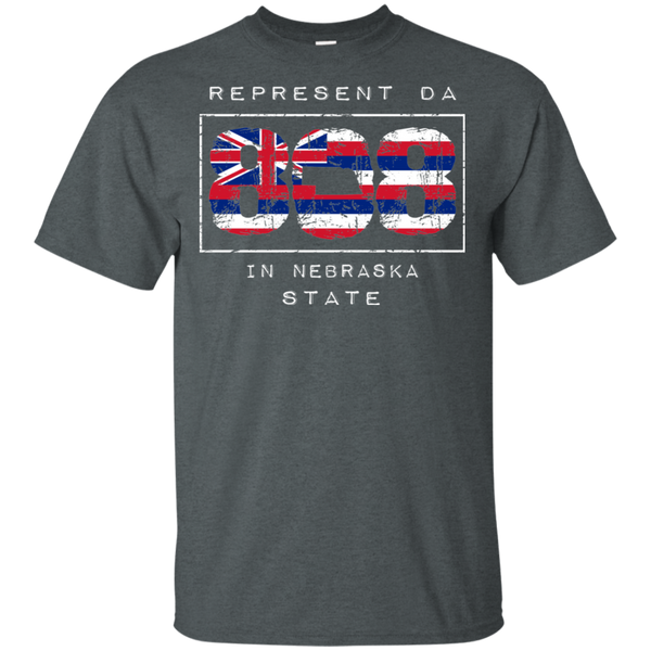Rep Da 808 In Nebraska State Ultra Cotton T-Shirt, T-Shirts, Hawaii Nei All Day
