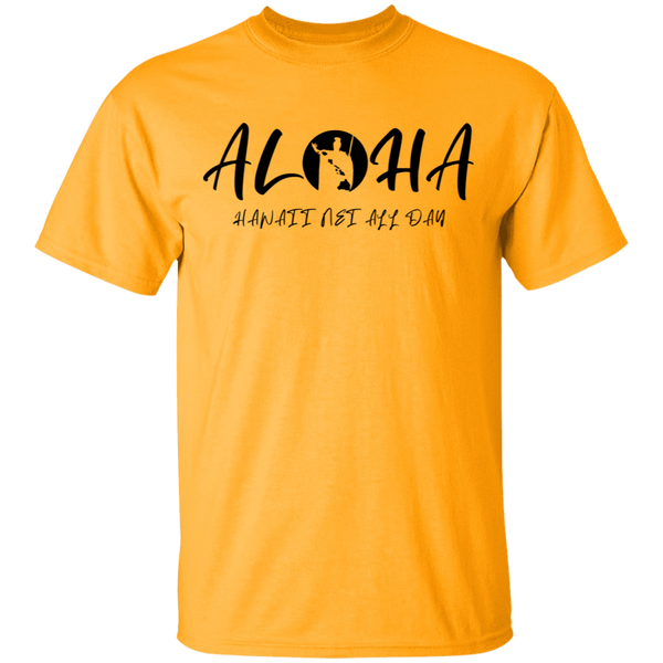 Aloha - Hawaii Nei All Day(RS BLK) T-Shirt