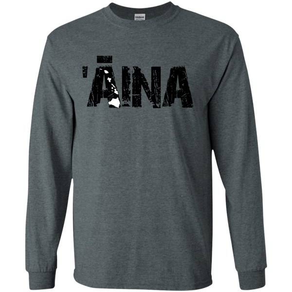 'Aina LS Ultra Cotton Tshirt, Long Sleeve, Hawaii Nei All Day, Hawaii Clothing Brands
