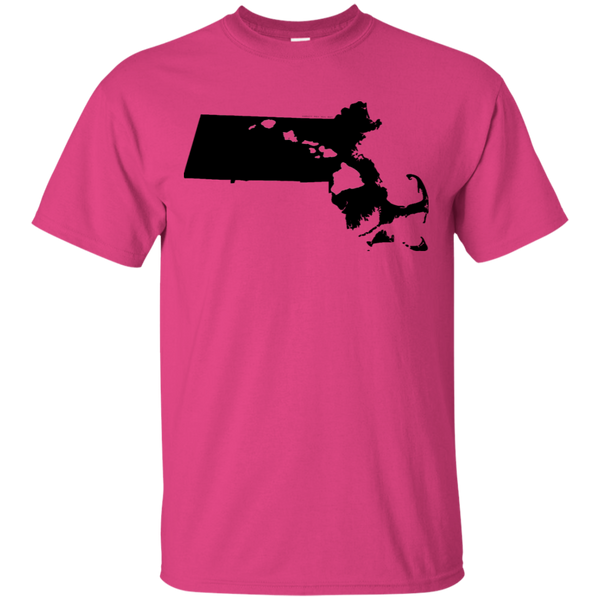 Living in Massachusetts with Hawaii Roots Ultra Cotton T-Shirt, T-Shirts, Hawaii Nei All Day