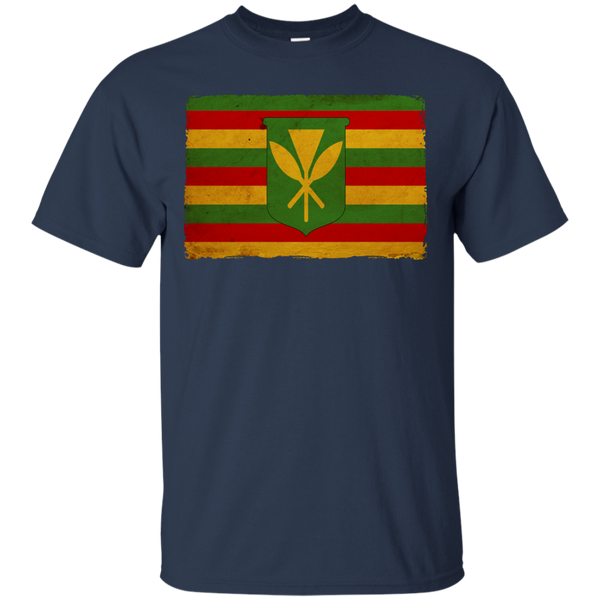 Kanaka Maoli Flag Custom Ultra Cotton T-Shirt, Short Sleeve, Hawaii Nei All Day, Hawaii Clothing Brands