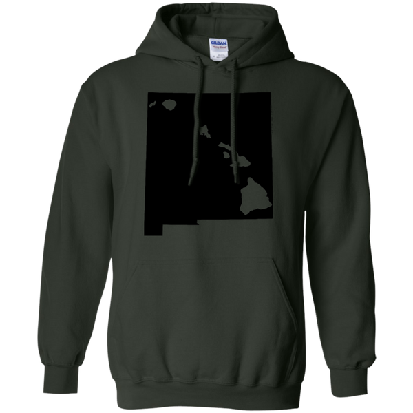 Living in New Mexico with Hawaii Roots Pullover Hoodie 8 oz., Sweatshirts, Hawaii Nei All Day
