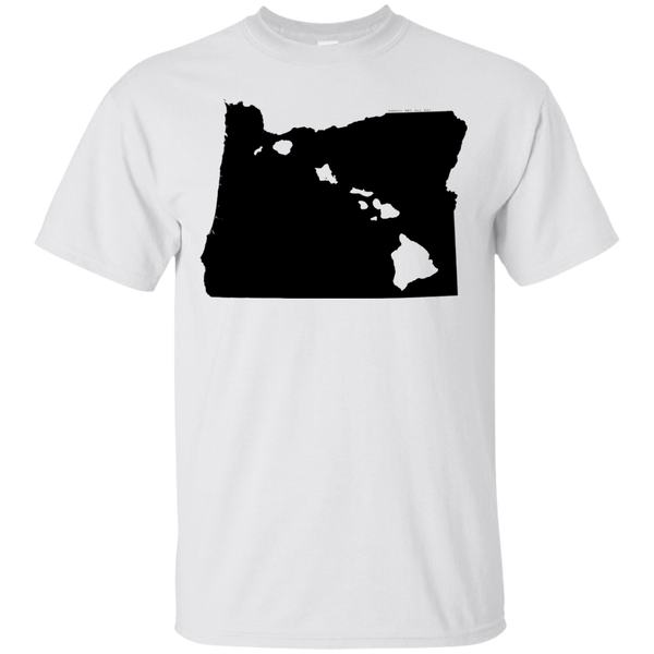 Living in Oregon with Hawaii Roots Ultra Cotton T-Shirt, T-Shirts, Hawaii Nei All Day