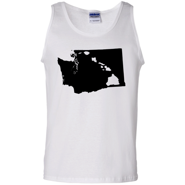 Living In Washington With Hawaii Roots 100% Cotton Tank Top, Sleeveless, Hawaii Nei All Day, Hawaii Clothing Brands