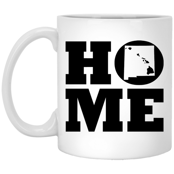 Home Roots Hawai'i and New Mexico White Mug, Apparel, Hawaii Nei All Day