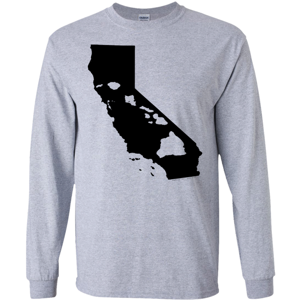Living In Cali With Hawaii Roots LS Ultra Cotton Tshirt, Long Sleeve, Hawaii Nei All Day, Hawaii Clothing Brands