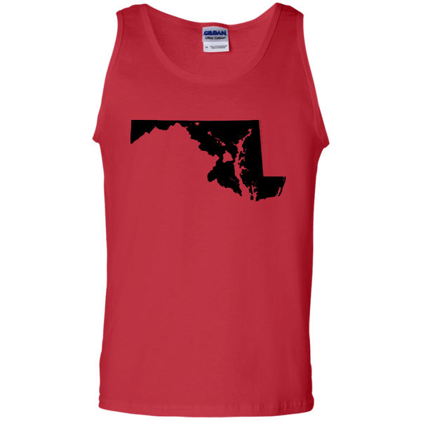 Living in Maryland with Hawaii Roots 100% Cotton Tank Top - Hawaii Nei All Day