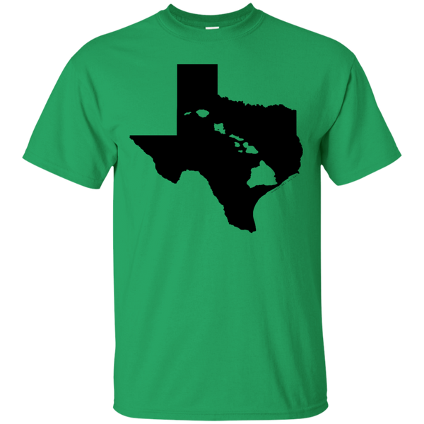 Living In Texas With Hawaii Roots Custom Ultra Cotton T-Shirt, Short Sleeve, Hawaii Nei All Day, Hawaii Clothing Brands
