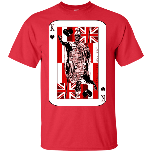 The King of Hawai'i Kamehameha (red ink) Ultra Cotton T-Shirt, T-Shirts, Hawaii Nei All Day