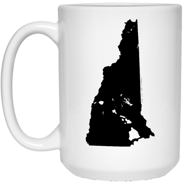 New Hampshire and Hawaii Roots White Mug, Apparel, Hawaii Nei All Day