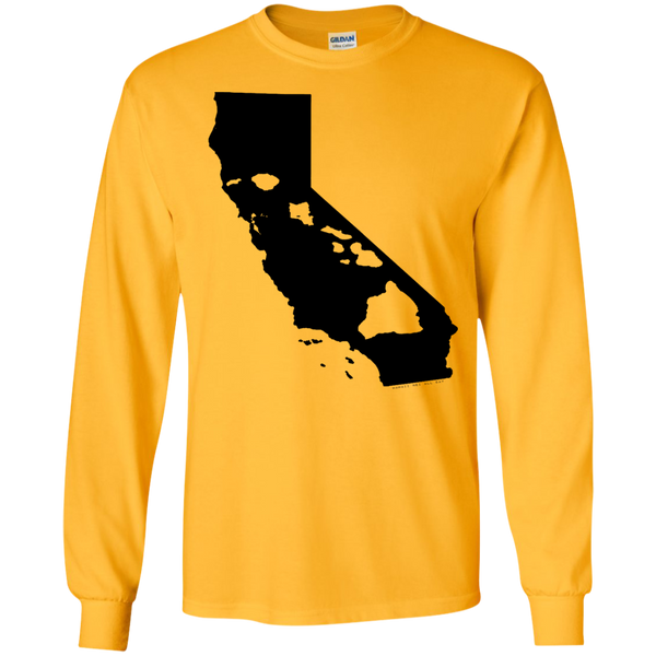 Living In California With Hawaii Roots LS Ultra Cotton Tshirt - Hawaii Nei All Day