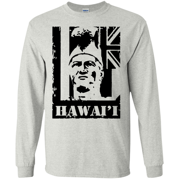 Hawai'i King Kamehameha LS Ultra Cotton T-Shirt, T-Shirts, Hawaii Nei All Day, Hawaii Clothing Brands