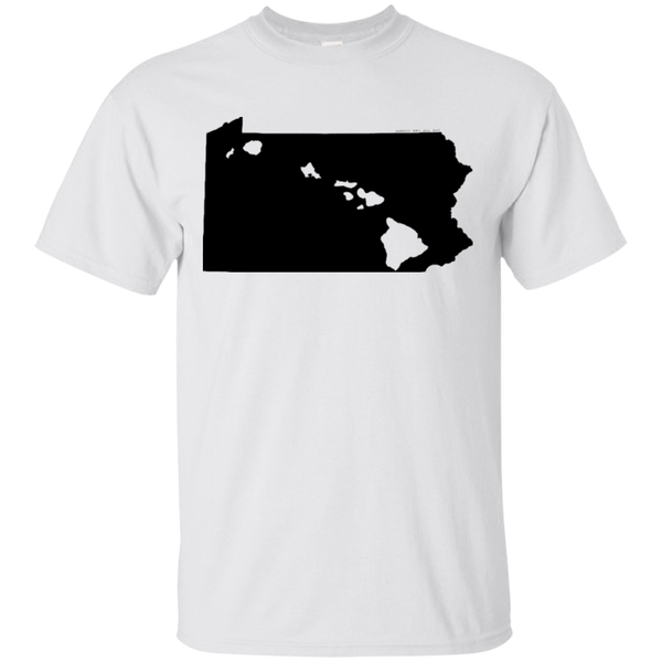Living in Pennsylvania with Hawaii Roots Ultra Cotton T-Shirt, T-Shirts, Hawaii Nei All Day, Hawaii Clothing Brands