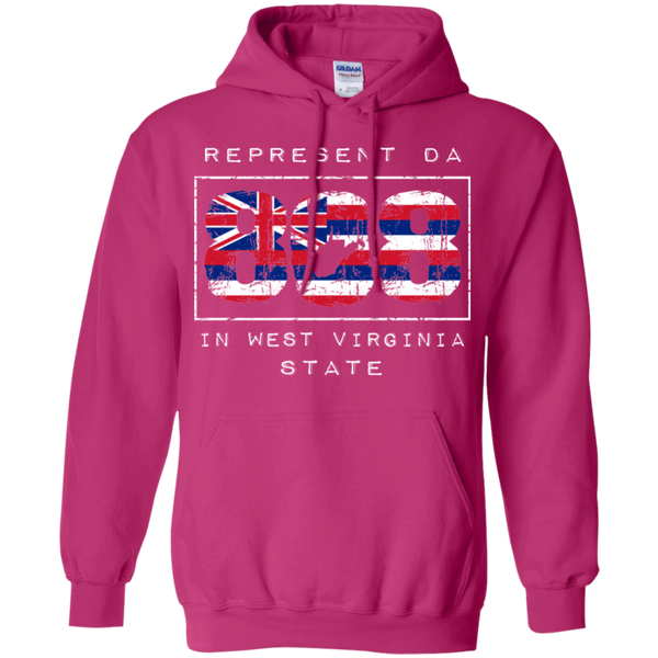 Rep Da 808 In West Virginia State Pullover Hoodie, Sweatshirts, Hawaii Nei All Day