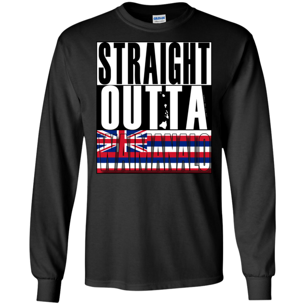 Straight Outta Waimanalo Hawai'i LS Ultra Cotton T-Shirt, T-Shirts, Hawaii Nei All Day