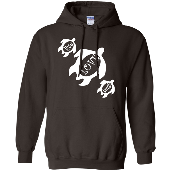 Live, LOVE, Laugh Honu Pullover Hoodie 8 oz, Hoodies, Hawaii Nei All Day, Hawaii Clothing Brands