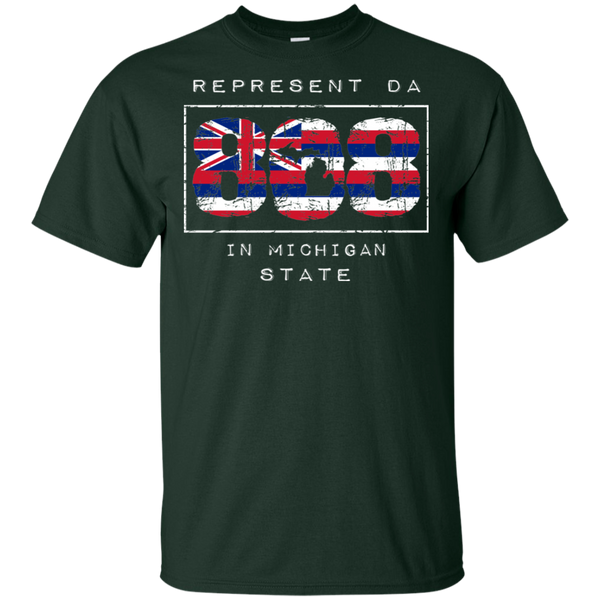 Rep Da 808 In Michigan State Ultra Cotton T-Shirt, T-Shirts, Hawaii Nei All Day